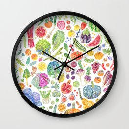 Seasonal Harvests Wall Clock