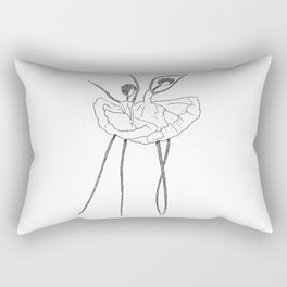 Ink and Ballet 2 (Dancing) Rectangular Pillow