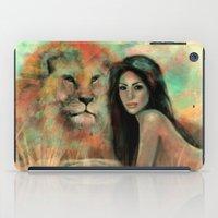 stephen king iPad Cases featuring King by Slaveika Aladjova