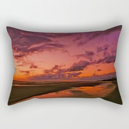 The Beach at sunset Rectangular Pillow