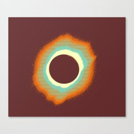 Solar eclipse Poster 4 a Canvas Print