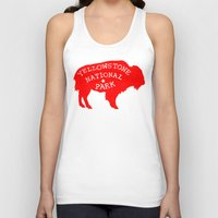 the national Tank Tops featuring Yellowstone National Park  by Terry Fan