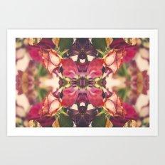 Sunset of Roses Art Print