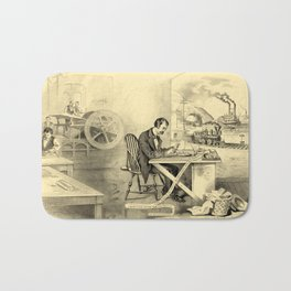 The Progress of the Century (Currier & Ives) Bath Mat