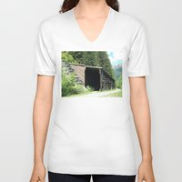 john snow V-neck T-shirts featuring Snow Shed by NoelleB