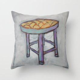 Short Stool - Chair  Throw Pillow