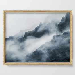 Foggy Mountains Serving Tray