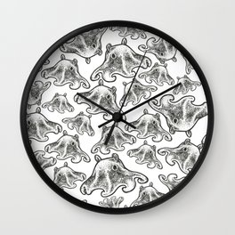 Octopus Print Wall Clock