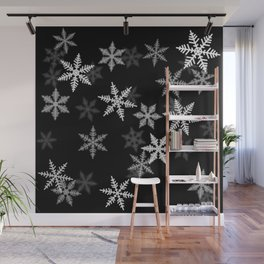 Black and White Winter Wall Mural