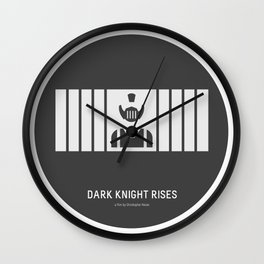 Flat Christopher Nolan movie poster: Dark K. R. Wall Clock