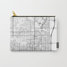 Scottsdale Map, USA - Black and White Carry-All Pouch