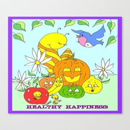 """"""" Healthy Happiness """" Canvas Print"""