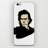 nick cave iPhone & iPod Skins featuring Nick Cave  by Philipp Banken