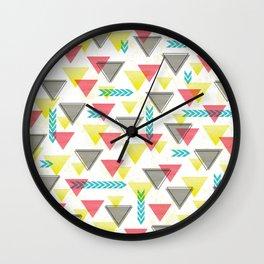 Wild Triangles Wall Clock