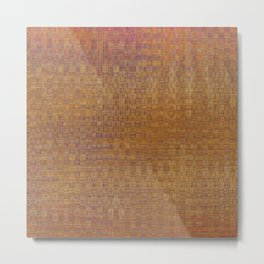 Square textured wicker Metal Print
