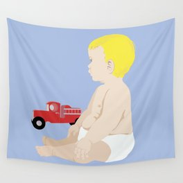 BOY BABY BLUE Wall Tapestry