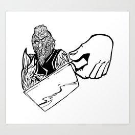 Chicken Art Print