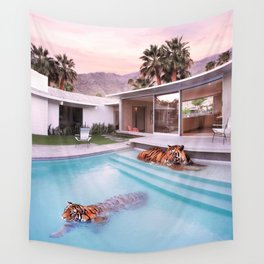 Palm Springs Tigers Wall Tapestry