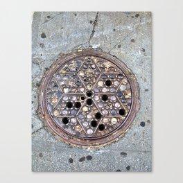 Worth Street Manhole Cover Canvas Print