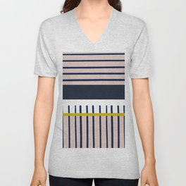 Parallel lines, perpendicular lines #610 Unisex V-Neck