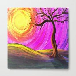Sunny Tree Metal Print
