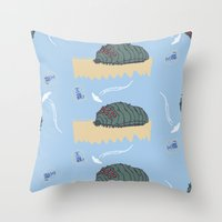 nausicaa Throw Pillows featuring ohmu! by nisimalotse