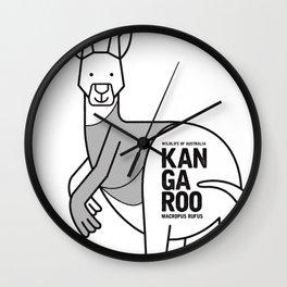 Kangaroo, Wildlife of Australia Wall Clock