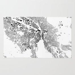 Zurich Schwarzplan Map Only Buildings Rug