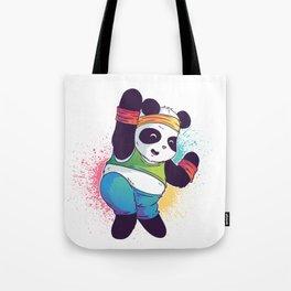Fitness Panda Tote Bag