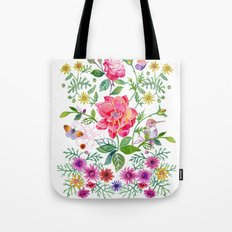 Bowers of Flowers Tote Bag