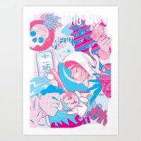 Benny & Friends Art Print