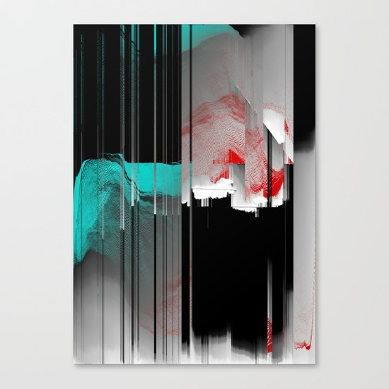 Minty Fresh Glitch Canvas Print