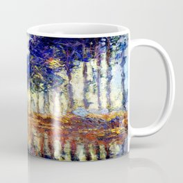 Monet : Poplars on the Banks of the River Epte, 1891 Coffee Mug