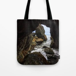 Ruby Beach Sea Cave Tote Bag