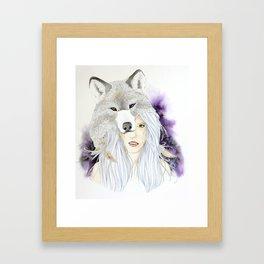 Wolf Totem - Totem Series Framed Art Print