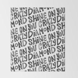 Shine On You Crazy Diamond – Black Ink Throw Blanket