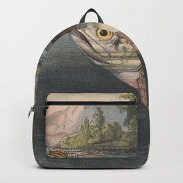 Vintage River Fishing Illustration (1874) Backpack