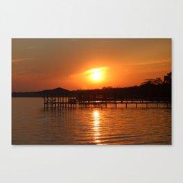 Sunset Over Lake Waccamaw 1 Canvas Print