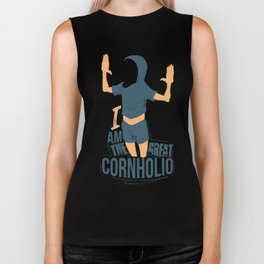 I am the Great Cornholio Biker Tank