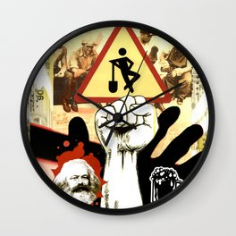 COLLAGE: 1st of May Wall Clock