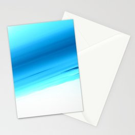 Turquoise Aqua Ombre Stationery Cards