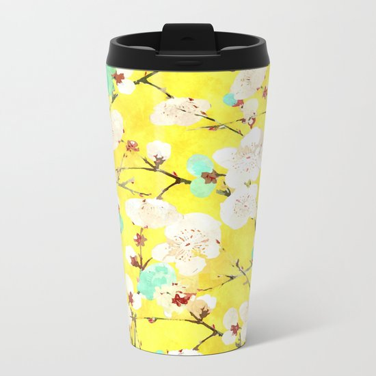Cherry Blossom #society6 #painting #buyart Metal Travel Mug