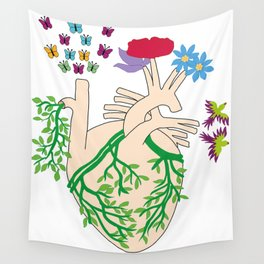 A heart in bloom Wall Tapestry