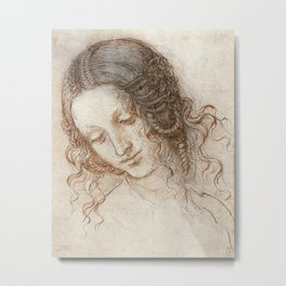 Leonardo da Vinci - Head of Leda Metal Print