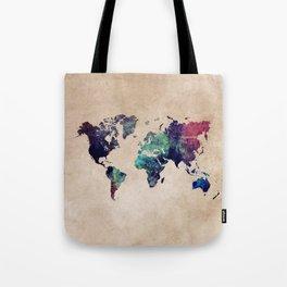 Cold World Map #map #worldmap Tote Bag