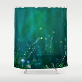 Fairy Tail - Flower on the Water - Magic Grass Shower Curtain