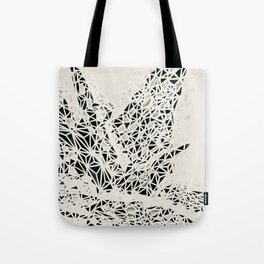 Aloe Plant Geometric Black and White Print Tote Bag