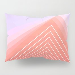 Pink Geometric Triangle minimal cute Pillow Sham