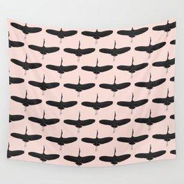 Black stork pattern Wall Tapestry