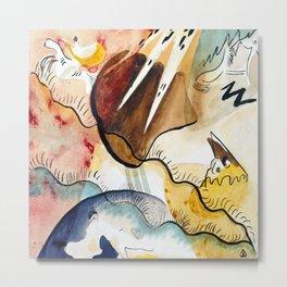 Wassily Kandinsky Rain Landscape Metal Print